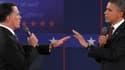 Mitt Romney et Barack Obama, les deux candidats à la présidence américaine.
