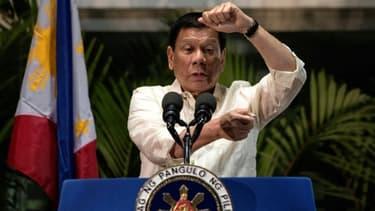 Le président philippin, Rodrigo Duterte à Manille, le 22 mars 2017
