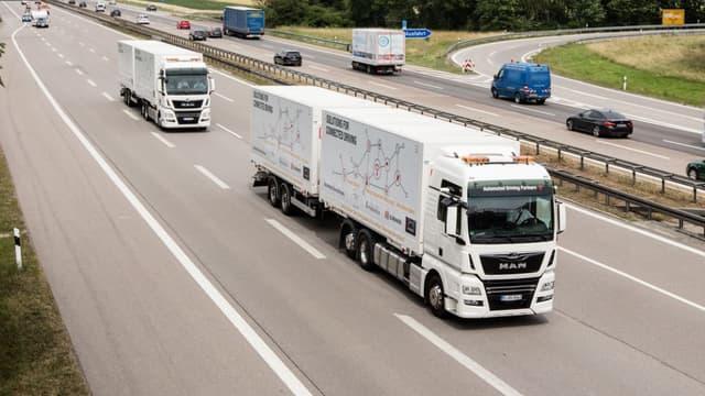 MAN Truck&Bus et DB Schenker coopèrent pour promouvoir conjointement la conduite automatisée de poids lourds sur autoroute.