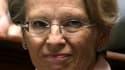 Très critiquée pour avoir passé ses vacances en Tunisie alors que la contestation du régime Ben Ali enflait, Michèle Alliot-Marie enregistre la plus grosse chute du baromêtre Ipsos-Le Point en perdant 12 points à 38% d'opinions favorables. /Photo prise le