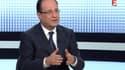 François Hollande lors de son interview ce jeudi soir, sur France 2.