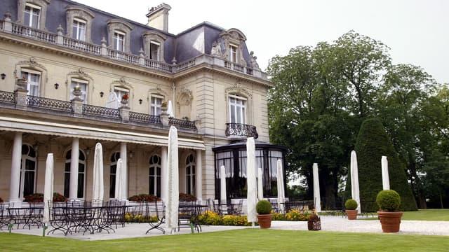 Le Château des Crayères, à Reims, où Nicolas Sarkozy a passé la nuit.