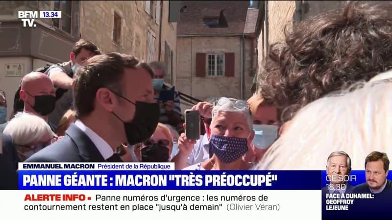 """Emmanuel Macron """"très préoccupé"""" par la panne des numéros d'urgence"""