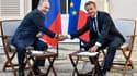 Emmanuel Macron et Vladimir Poutine à Brégançon.
