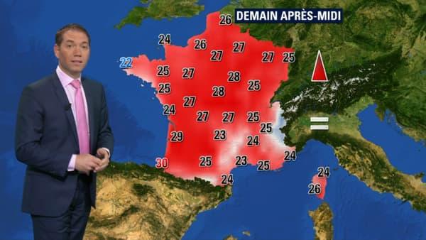 Les prévisions Météo France pour le samedi 13 octobre.