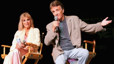 L'actrice Grace Lee Whitney et l'acteur Robert Walker Jr, en 2005 à une convention Star Trek