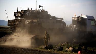 Un tank israéliens à la frontière syrienne, le 5 mai.