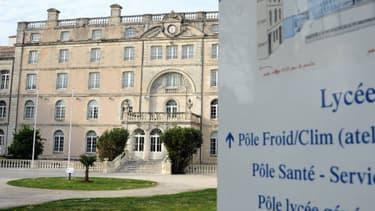 Façade du lycée privé de La Rochelle, en Charente-Maritime, où un viol a été commis en septembre 2013.