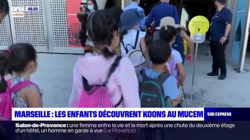 Marseille: les enfants découvrent Jeff Koons au Mucem
