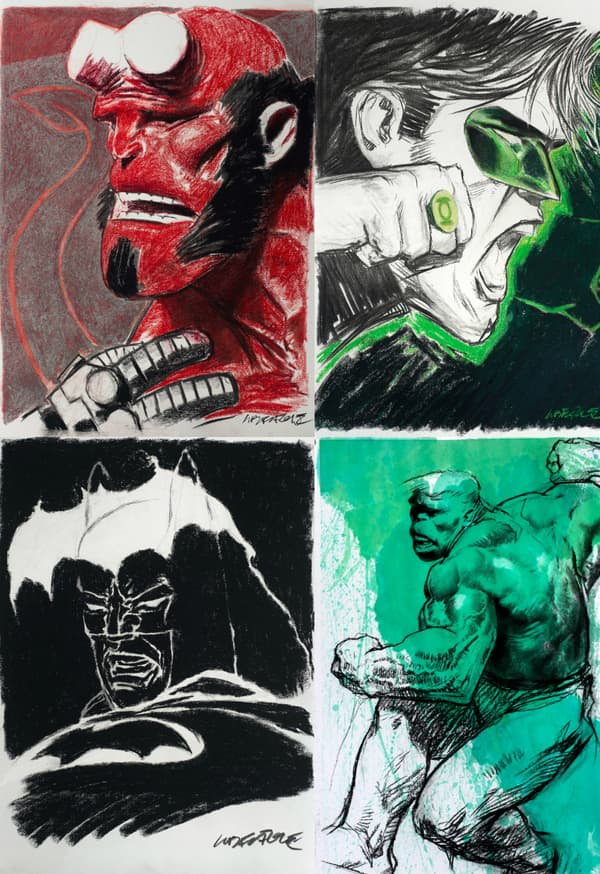 Hellboy, Green Lantern, Batman et Hulk