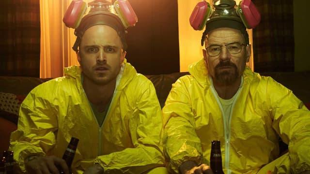 """Aaron Paul et Bryan Cranston dans """"Breaking Bad"""""""