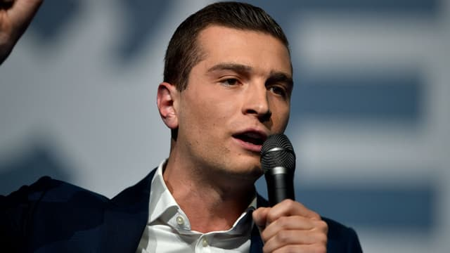 Jordan Bardella, tête de liste du Rassemblement national pour les européennes