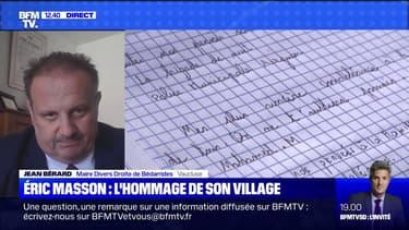 """Jean Bérard raconte la """"colère sourde"""" du village où vivait le brigadier Éric Masson"""