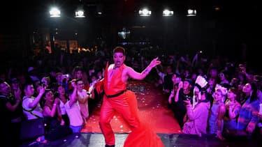 Zhang Xin, candidat de la compétition de voguing organisée samedi soir à Pékin