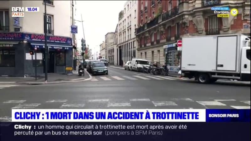 Clichy: un mort dans un accident à trottinette