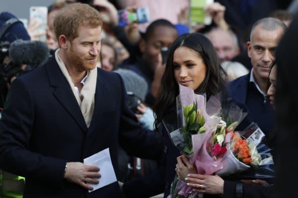 Le prince Harry et Meghan Markle, le 1er décembre 2017 à Nottingham.