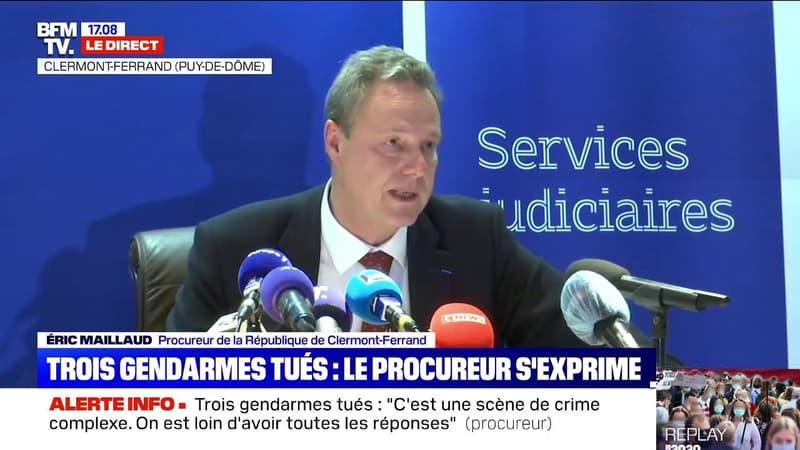 Trois gendarmes tués: le procureur de la République de Clermont-Ferrand exprime son