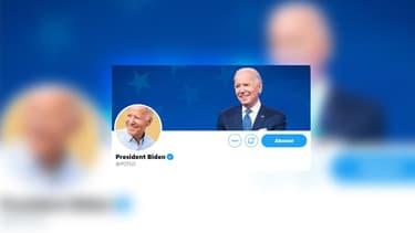 Le compte Twitter @POTUS, désormais utilisé par Joe Biden