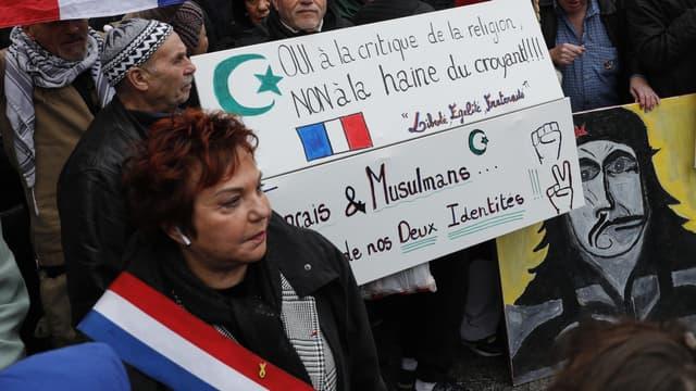 """Esther Benbassa, lors de la """"marche contre l'islamophobie"""""""