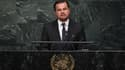 Leonardo DiCaprio le 22 avril 2016 à la tribune des Nations Unies à New York.