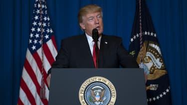 Donald Trump annonce des frappes américaines en Syrie, le 6 avril 2017.
