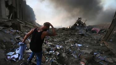 Le port de Beyrouth après l'explosion, le 4 août 2020