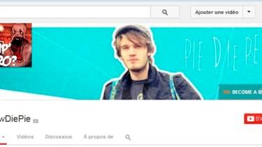 La page YouTube de Pewdiepie a 12 millions d'abonnés.