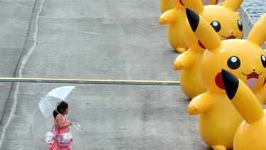 Des Pikachu défilent au Japon le 13 août 2015.