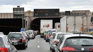 La circulation est coupée ce mardi matin sur l'A86 à hauteur de Gennevilliers (illustration)