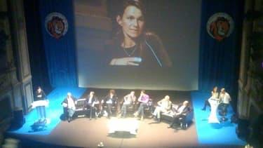 Aurélié Filippetti a été vivement applaudie après son discours de Dijon