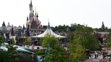 Vue de Disneyland Paris, à Marne-la-Vallée, le 13 août 2015 (photo d'illustration)