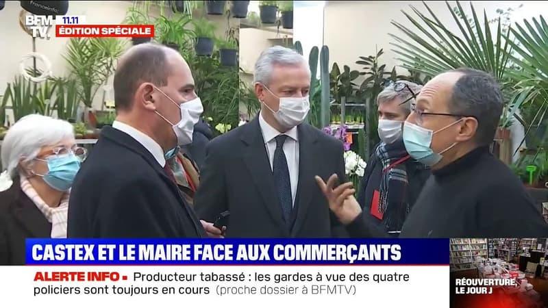 Jean Castex à la rencontre des commerçants à Reims pour leur réouverture