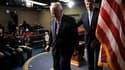 Les sénateurs américains John Kerry (à droite) et Richard Lugar, à Washington. Le Sénat américain a adopté mercredi le traité Start de réduction des arsenaux nucléaires américain et russe, ce qui constitue un succès politique in extremis pour Barack Obama