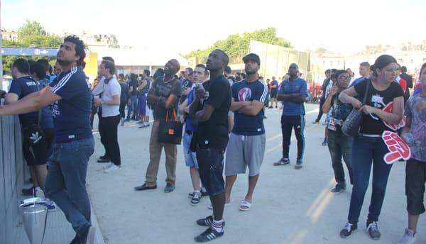 Quand ils ne n'étaient pas sur la scène, les joueurs français assistaient, en spectateur, aux autres matches de la compétition
