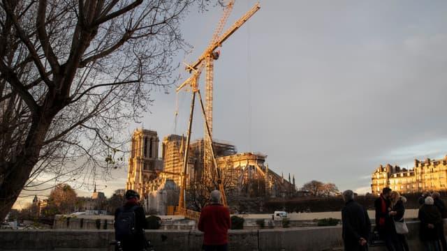 La cathédrale Notre-Dame de Paris en travaux, le 19 décembre 2019
