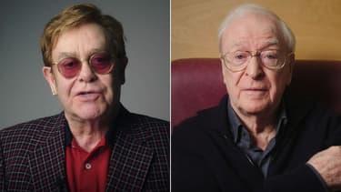 Elton John et Michael Caine