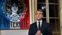 Le président de la République Emmanuel Macron lors de ses voeux aux Français, le 31 décembre 2018 à l'Elysée.