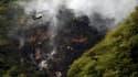 Sur les collines de Margalla, près d'Islamabad, où un Airbus A321 de la compagnie privée pakistanaise Airblue, qui avait 152 personnes à son bord, s'est écrasé par mauvais temps. Plus de 90 corps ont été récupérés sur le site de l'accident et les chances