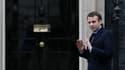 Emmanuel Macron en déplacement à Londres lors de la campagne présidentielle (février 2017)