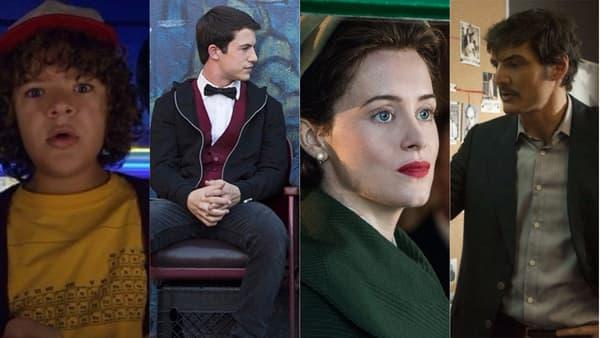 """""""Stranger Things"""", """"13 Reasons Why"""", """"The Crown"""" et """"Narcos"""", quatre des séries les plus plébiscitées par les abonnés Netflix"""