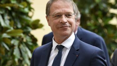 Le patron de la CPME François Asselin à Matignon le 17 juillet 2020 pour une rencontre avec les syndicats, le patronat  et le Premier ministre