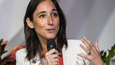 La secrétaire d'Etat à la Transition écologique, Brune Poirson, parle durant l'inauguration de la PreCOP25 au Costa Rica