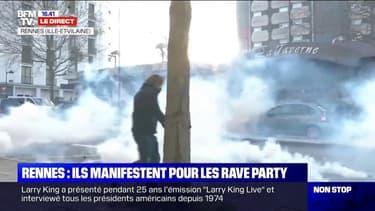 Près de 800 personnes manifestent à Rennes contre la répression de la rave party à Lieuron lors du nouvel an