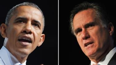 Les candidats à la présidentielle américaine Barack Obama et Mitt Romney