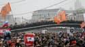 Plusieurs dizaines de milliers de personnes ont manifesté en Russie, ici place Bolotnaya à Moscou, pour réclamer la fin du régime de Vladimir Poutine et la tenue de nouvelles élections législatives après le scrutin controversé du 4 décembre. /Photo prise
