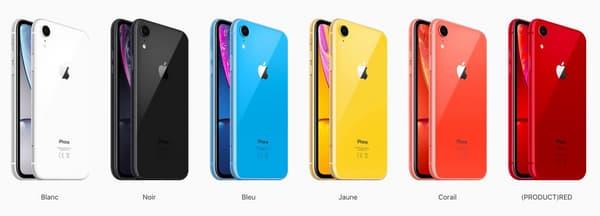 L'iPhone Xr se décline en six coloris.