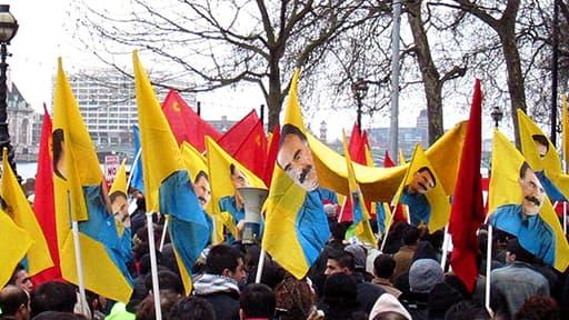 Des manifestants du PKK à Londres en 2003