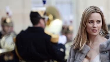 Melissa George et Jean-David Blanc reçus à l'Elysée, le 26 avril 2016.
