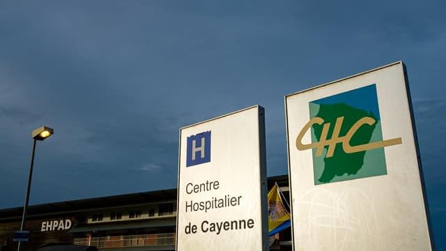 Devant le centre hospitalier de Cayenne, en 2020. (photo d'illustration)