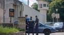 La gendarmerie a veillé toute la journée devant la centrale d'Ensisheim.
